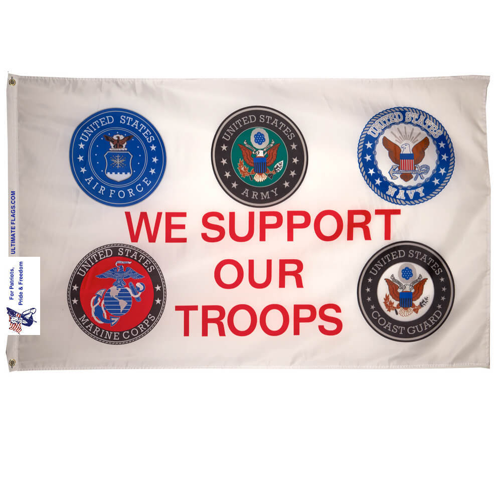 we support our troops military flag