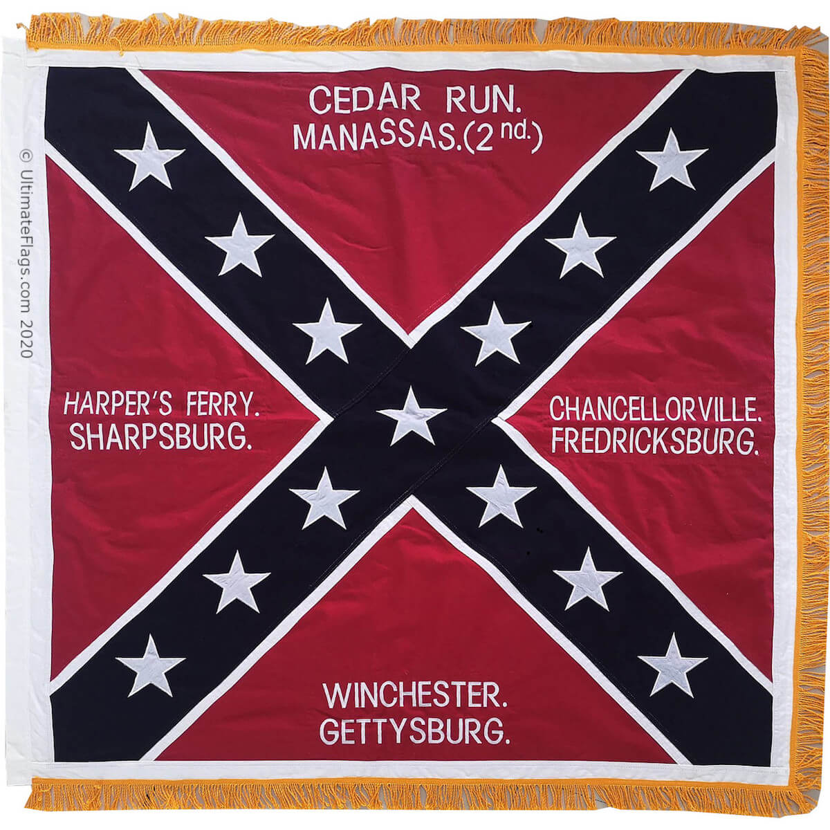honors battle flag for sale manassas 2nd gettysburg winchester harper's ferry sharpsburg chancellorville fredricksburg cedar run