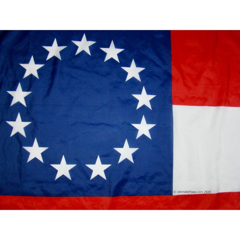 13 stars on 1st confederate flag stars and bars