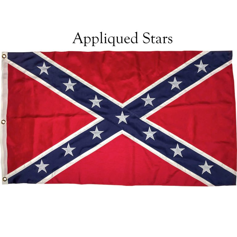 Rebel Flag with sewn on stars