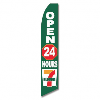 7 Eleven 24 Hour Advertising Flag (Flag Only)
