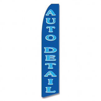 Blue Auto Detail Advertising Flag (Flag Only)