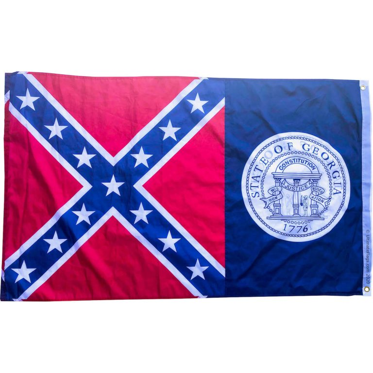 double sided old georgia flag