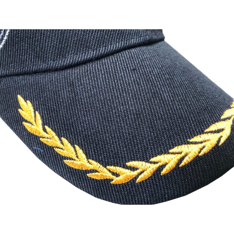 beautifully embroidered bill on u.s. army hat