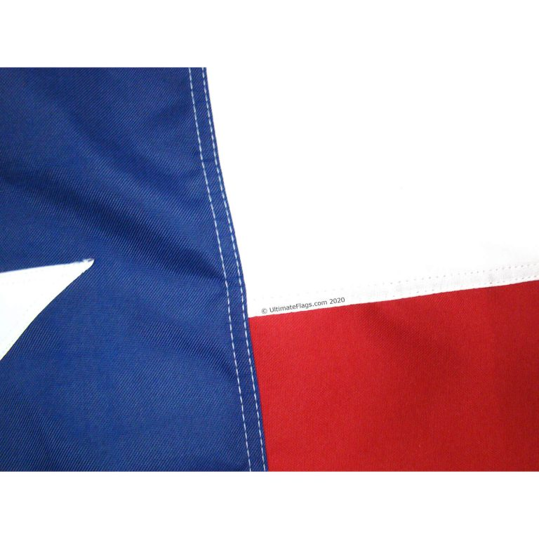 stitching of TX state flag for sale