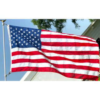 usa flag poly max embroidered heavy duty military grade outdoor flags for sale MADE in USA quality flags