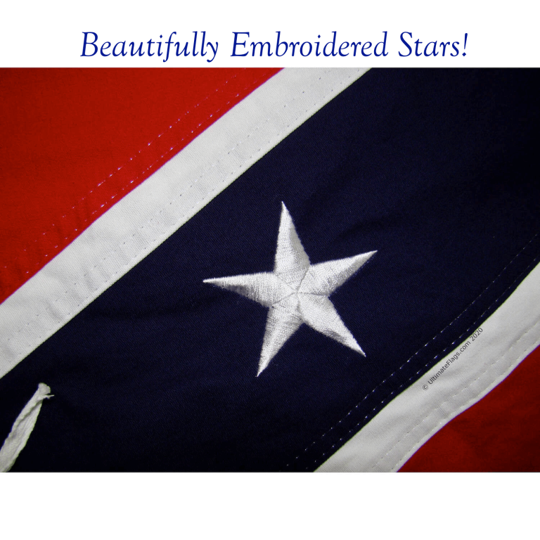 beautiful embroidery on authentic cotton confederate flag rebel flag for sale