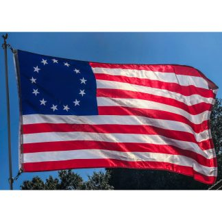 nylon printed betsy ross 13 star patriotic american flag