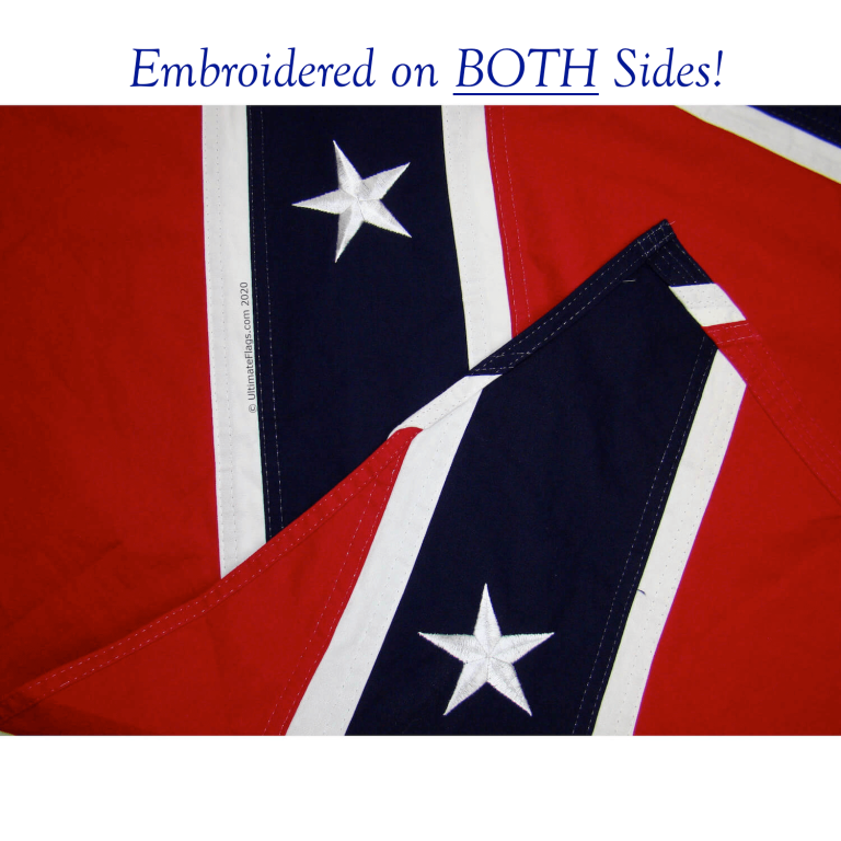 quality confederate flag for sale double embroidered