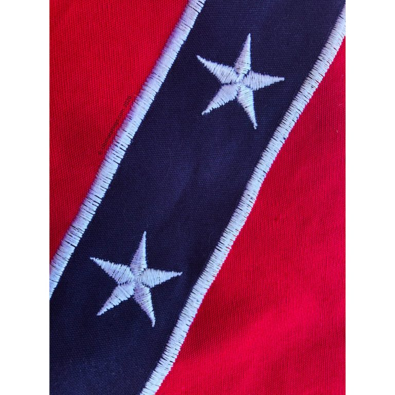 embroidered stars on rebel battle flag for sale