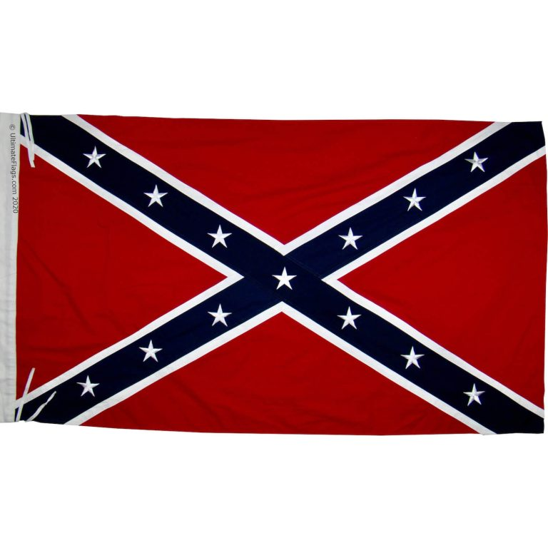 buy rebel flag on pole sleeve / ties