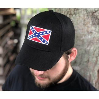 buy rebel flag cap in black