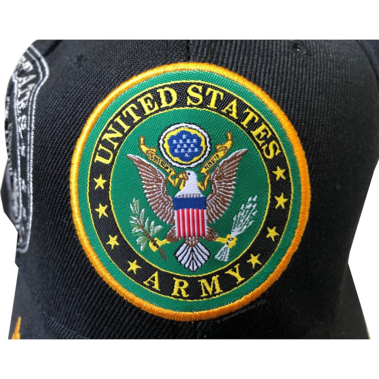 united states army seal on front of hat