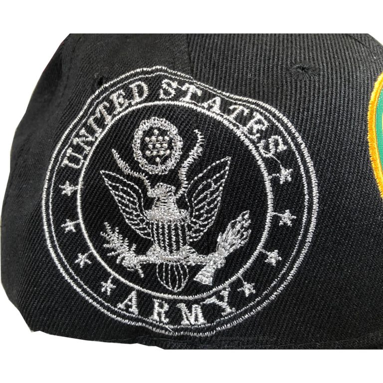 side of united states army hat for sale with seal