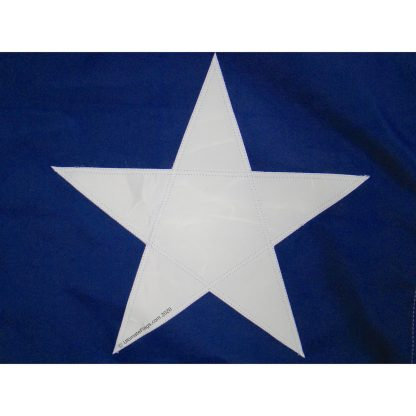 texas star sewn onto flag