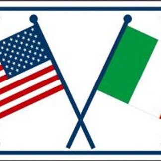 usa italy friendship crossed flags license plate for sale
