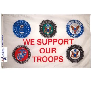 we support our troops flag - outdoor military flags for sale