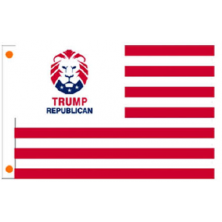 trump republican lion usa flag for sale