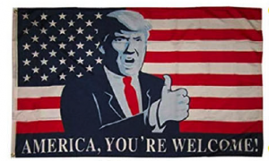 america your welcome trump usa flag thumbs up