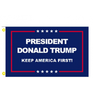 blue president donald trump keep america first flag