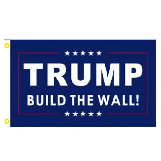 trump build the wall flag for sale
