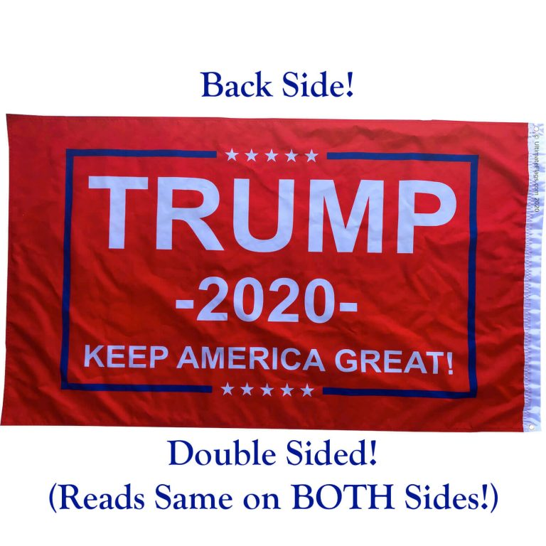 red trump boat flags