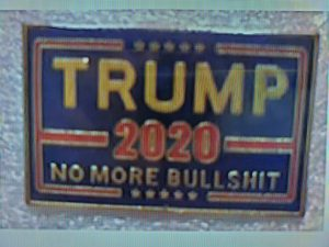 trump no more bullshit pins
