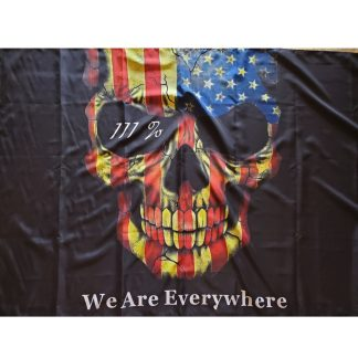 we are everywhere flag 3% skull usa flags for sale