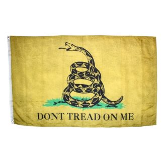 buy vintage gadsden flag weathered yellow original authentic don't tread on me flags for sale