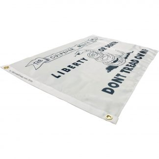 liberty or death dont tread on me flag white