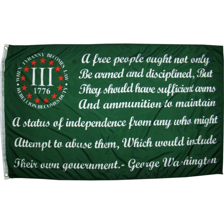 buy 3% flag bear arms george washington quote