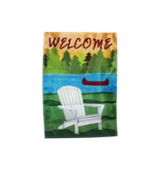Welcome Lakehouse Vacation Home Canoe Lake Garden Flag