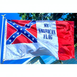 third national flag of confederate states of america with words My American Flag