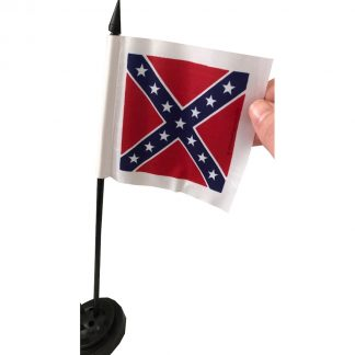 buy desk flag rebel confederate battle flag on stick for desks / parade flags