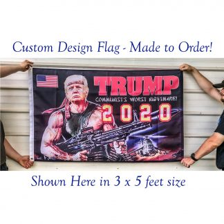 usa made trump bazooka flag / funny trump flag rpg for sale