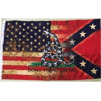 rebel usa snake flag for sale vintage weathered
