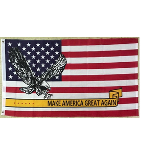 American Eagle Make America Great Again flags