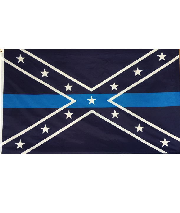 confederate thin blue line flag blue lives matter rebel flag for sale