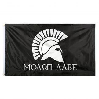 buy black molon labe spartan flag 3x5