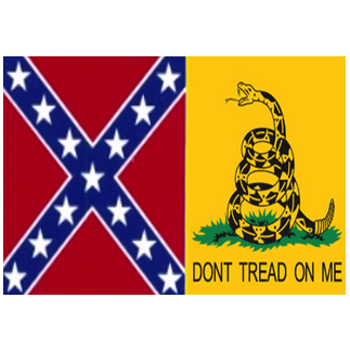 rebel dont tread on me flag for sale 1/2 & 1/2 confederate gadsden