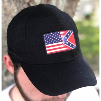 buy rebel usa patch cap in black