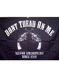 dont tread on me 2nd amendment revolver flag for sale