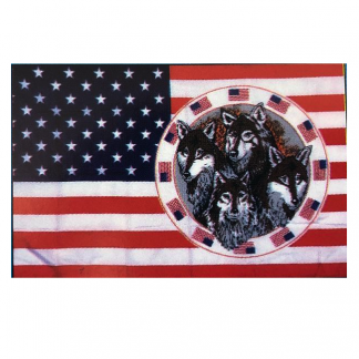 american wolves flag / cool usa wolves flags for sale