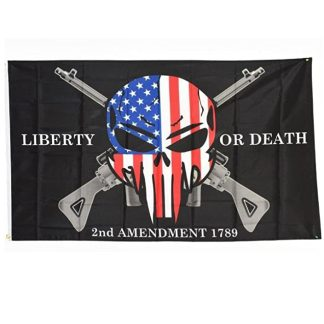 liberty or death punisher flag 2nd amendment flags for sale