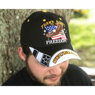 thank a vet hat gold bill veteran embroidered