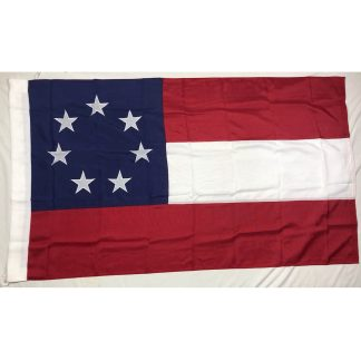 stars and bars 7 star flag with sleeve and ties