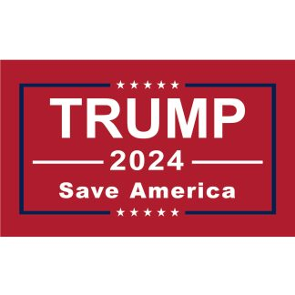 trump 2024 save america flag in red 3x5 feet single sided