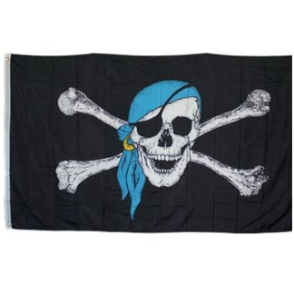 buy pirate flag with blue hat