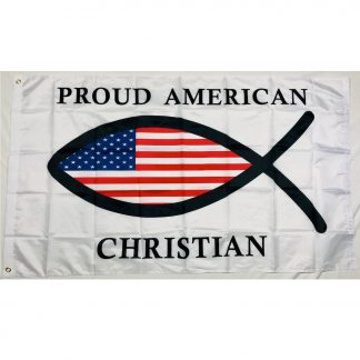 christian fish flag for sale 3x5 outdoor nylon