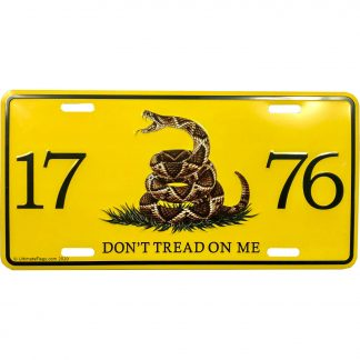 1776 license plate gadsden snake don't tread on me